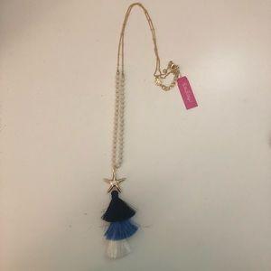 Lilly Pulitzer starfish tassel necklace